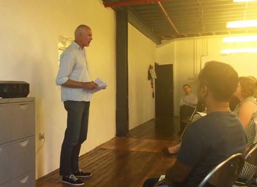 Speaker Ricky Onsman at the workshop