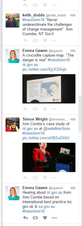 Transform 16: tweets