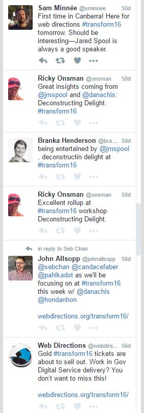 Transform 16 Masterclass tweets