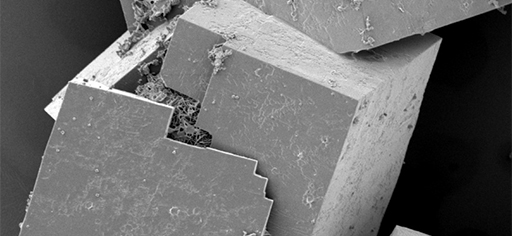 Imbricated HTML blocks viewed through a scanning electron microscope (CISRO Lab UK -Commons)