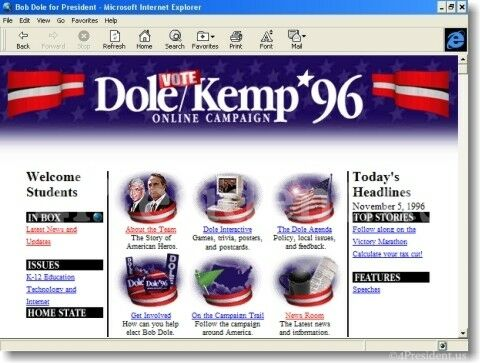 Dole/Kemp 96 website - no AI