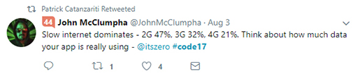 Code 17 in 100 Tweets