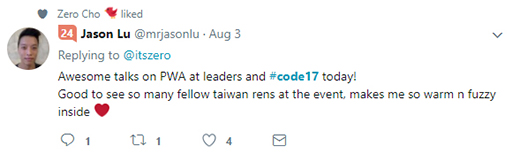 Code 17 in 100 Tweets: PWA Taiwan