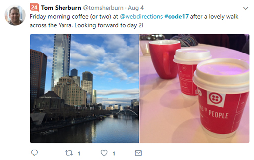 Code 17 in 100 Tweets: Day 2 Yarra
