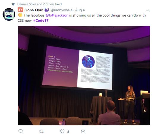 Code 17 in 100 Tweets: Charlotte Jackson