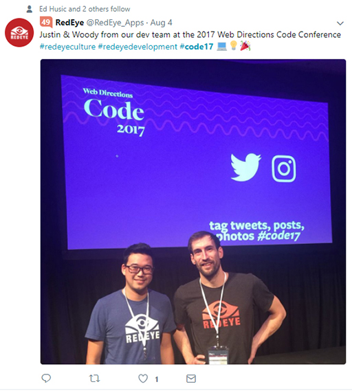 Code 17 in 100 Tweets: two attendees