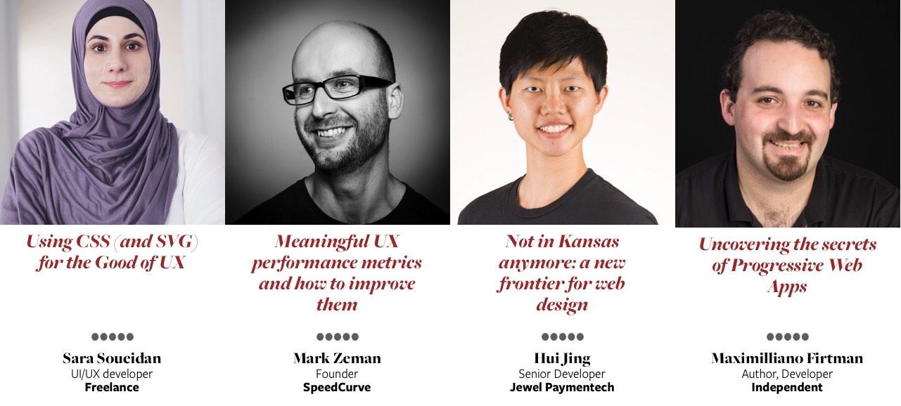 Sara Soueidan, Mark Zeman, Hui Jin Chen, Maximiliano Firtman
