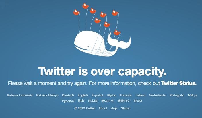 Fail Whale at Twitter