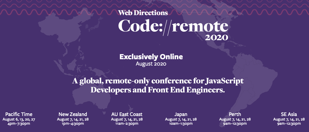 Promo for our Code Remote Conference.