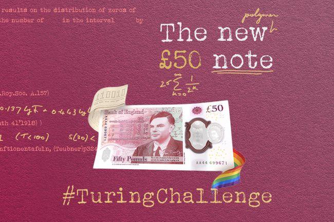 Alan Turning on 50 bank note